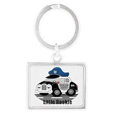 Little Rookie Police Car Landscape Keychain