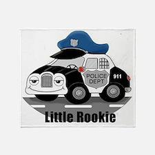 Little Rookie Police Car Throw Blanket