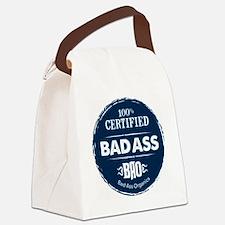 Bad_Ass_Certified_Blue_Sticker Canvas Lunch Bag