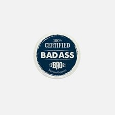 Bad_Ass_Certified_Blue_Sticker Mini Button