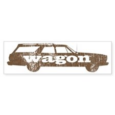 wagaon_brown Bumper Sticker