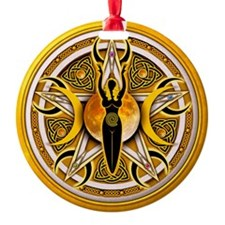 Pentacle of the Yellow Goddess Ornament