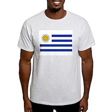 Uruguay Flag Ash Grey T-Shirt