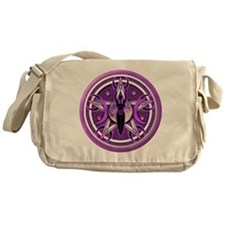 Pentacle of the Purple Goddess Messenger Bag