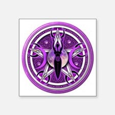 "Pentacle of the Purple Godd Square Sticker 3"" x 3"""