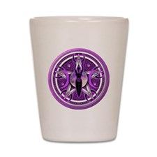 Pentacle of the Purple Goddess Shot Glass