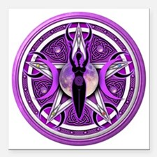 "Pentacle of the Purple G Square Car Magnet 3"" x 3"""
