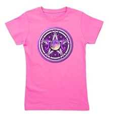 Purple Triple Goddess Pentacle Girl's Tee