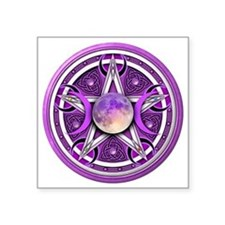 "Purple Triple Goddess Penta Square Sticker 3"" x 3"""