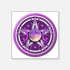 "Purple Triple Goddess Penta Square Sticker 3"" x 3"""