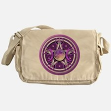 Purple Triple Goddess Pentacle Messenger Bag