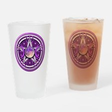 Purple Triple Goddess Pentacle Drinking Glass