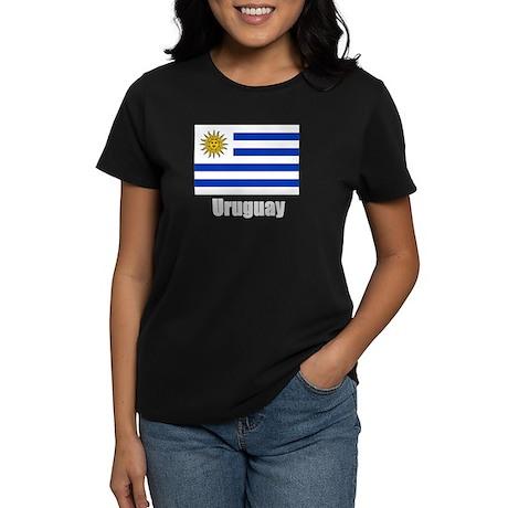 Uruguay Flag Women's Dark T-Shirt