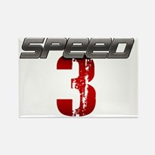 Speed 3 copy Rectangle Magnet