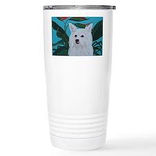 American Eskimo 5x7 Travel Mug