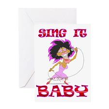 SINGIT Greeting Card