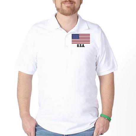 United States Flag Golf Shirt