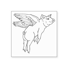 "littlepig.gif Square Sticker 3"" x 3"""