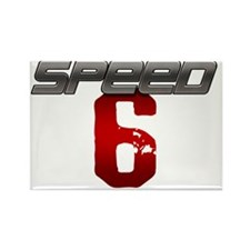Speed 6 copy Rectangle Magnet