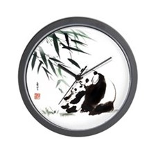 Mom and Child_Panda Wall Clock