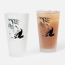 Mom and Child_Panda Drinking Glass