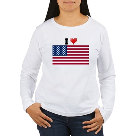 I love USA Women's Long Sleeve T-Shirt