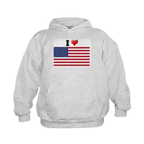 I love USA Kids Hoodie