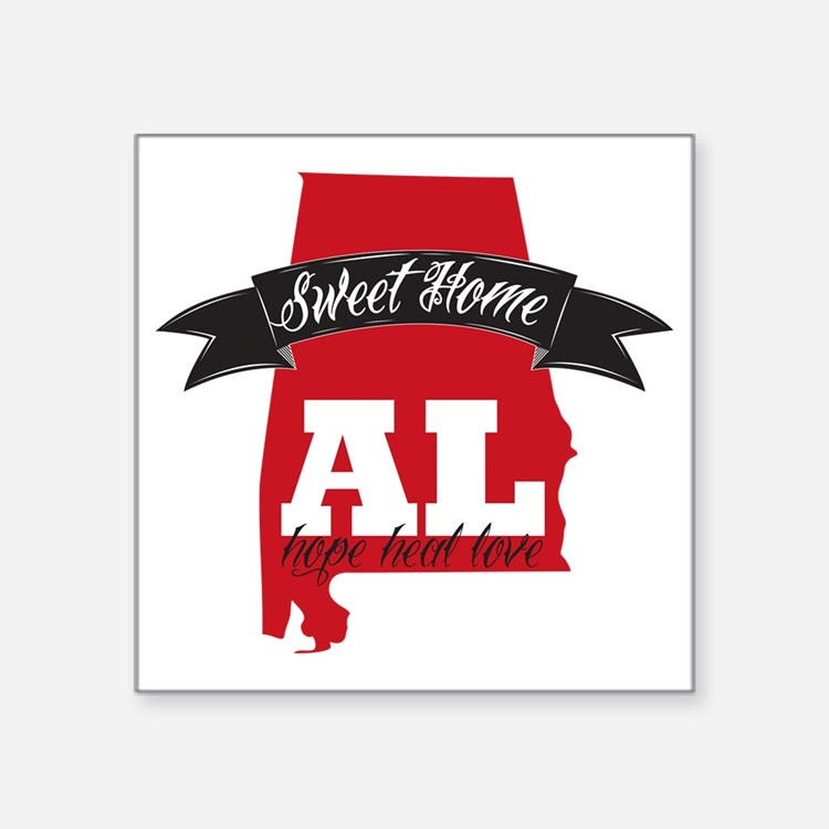 """Sweet Home-2 Square Sticker 3"""" x 3"""""""