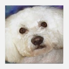 Cute Warhol bichon Tile Coaster
