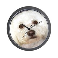 Unique Bichon frise paintings Wall Clock