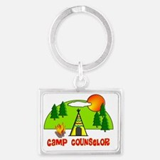 camp counselor 1 Landscape Keychain