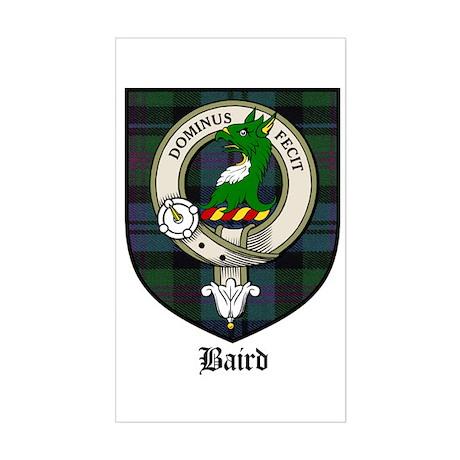 Baird Clan Crest Tartan Rectangle Sticker