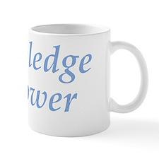 Knowledge Is Power (light blue) Mug