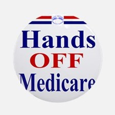 Hands OFF Medicare T-Shirt rwb Tshi Round Ornament