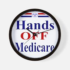 Hands OFF Medicare T-Shirt rwb Tshirt Wall Clock