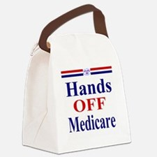 Hands OFF Medicare T-Shirt rwb Ts Canvas Lunch Bag