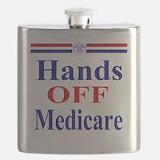 Hands OFF Medicare T-Shirt rwb Tshirt Flask