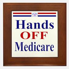 Hands OFF Medicare T-Shirt rwb Tshirt Framed Tile