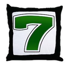 Seven copy Throw Pillow