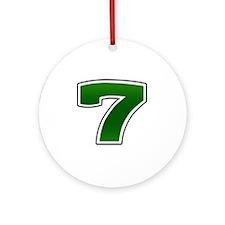 Seven copy Round Ornament