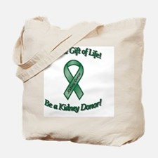 kidney Give the Gift of Life Tote Bag