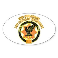 DUI - 3rd Squadron, 1st Cavalry Regiment With Text