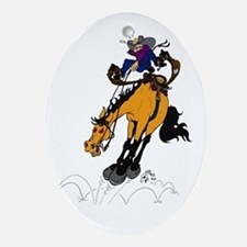 Encouragement - western horse Oval Ornament