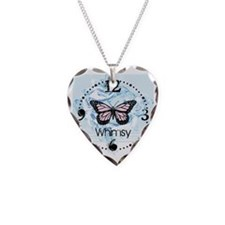 Whimsy Butterfly Clock design Necklace