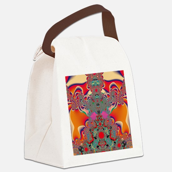 Abstract Art Red Meditation Canvas Lunch Bag