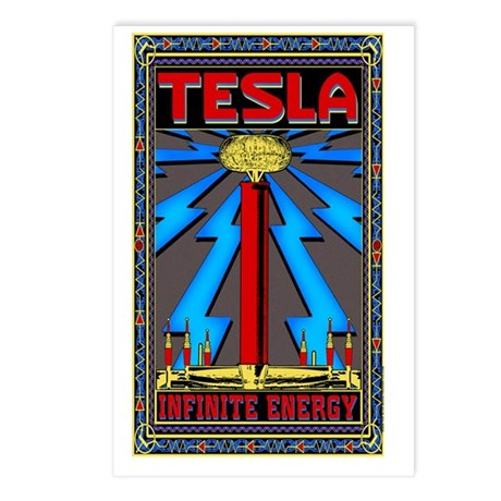 TESLA_COIL-5x8_journal Postcards (Package of 8)