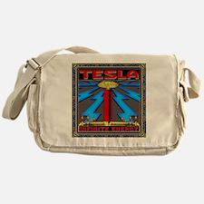 TESLA_COIL-11x11_pillow Messenger Bag