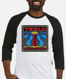 TESLA_COIL-11x11_pillow Baseball Jersey