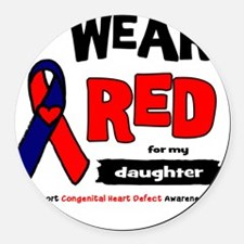 daughter Round Car Magnet