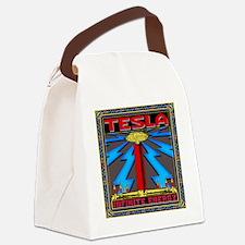TESLA_COIL-cp Canvas Lunch Bag